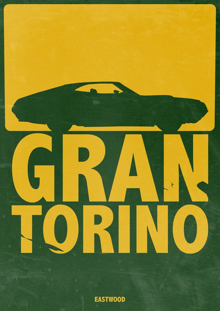 https://flic.kr/p/9gLZZJ | Gran Torino - Minimalist Poster | I really liked this movie when I saw it. And I still think it's one of the best roles Mr. Eastwood has ever played. I don't know if I have the colors right on the poster - but I find that it is close enough?
