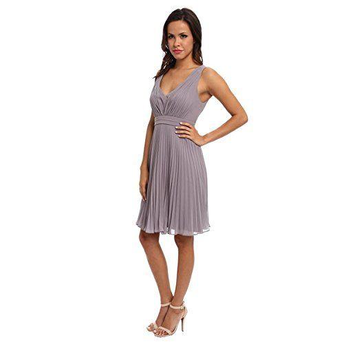 (ドナモーガン) Donna Morgan レディース ドレス カジュアルドレス Greta Short Pleated Chiffon 並行輸入品  新品【取り寄せ商品のため、お届けまでに2週間前後かかります。】 カラー:Sterling 商品番号:ol-8494684-70457