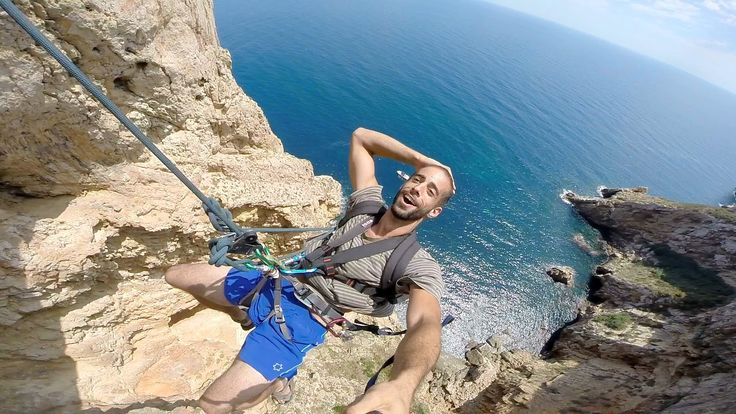 David Martin, Ruben Pla, and friends set up a highline and rope swing off the coast of Alicante, Spain. Shot 100% on the HD HERO3+® camera from ‪http://GoPro...