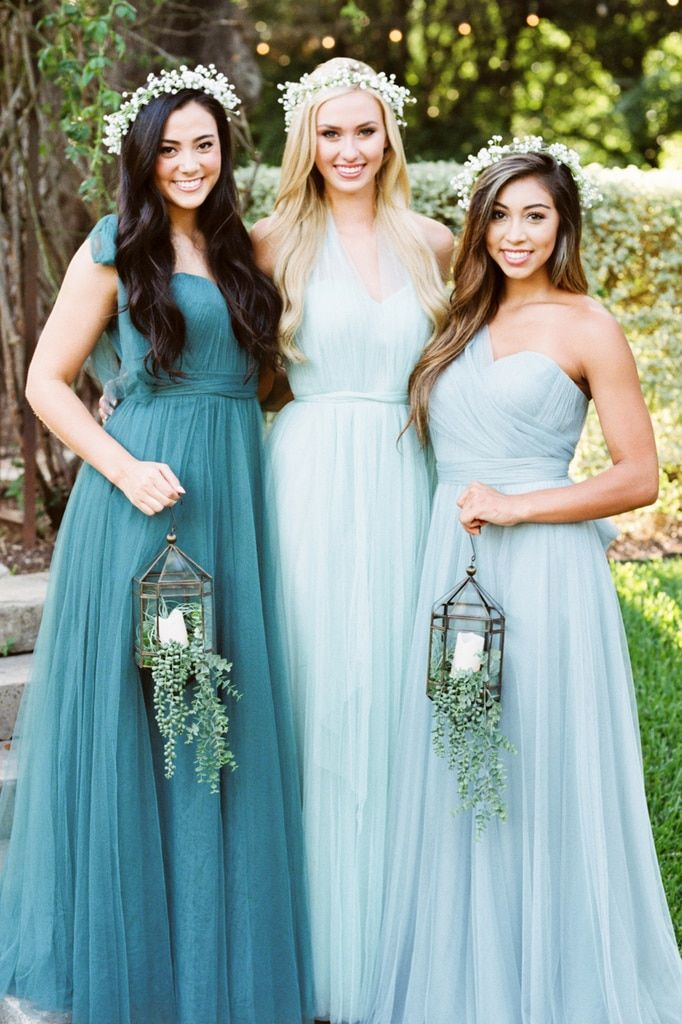 details for clear-cut texture hot-selling authentic Rosalie Tulle Convertible Dress | I DO in Blue in 2019 ...