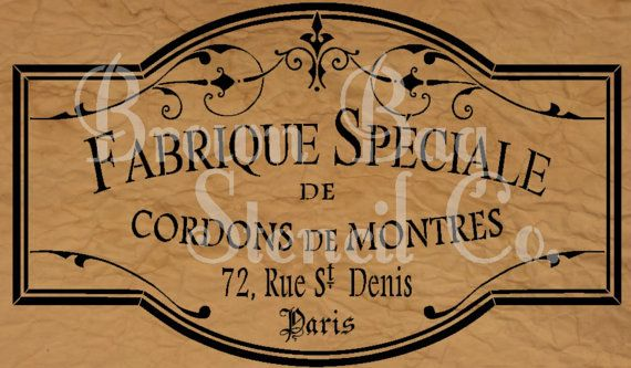 French Stencil Fabrique Specialie 12x20 by BrownBagStencilCo