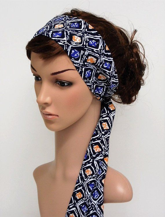 pure cotton Headband tie up headband pin up headband self tie hair scarf