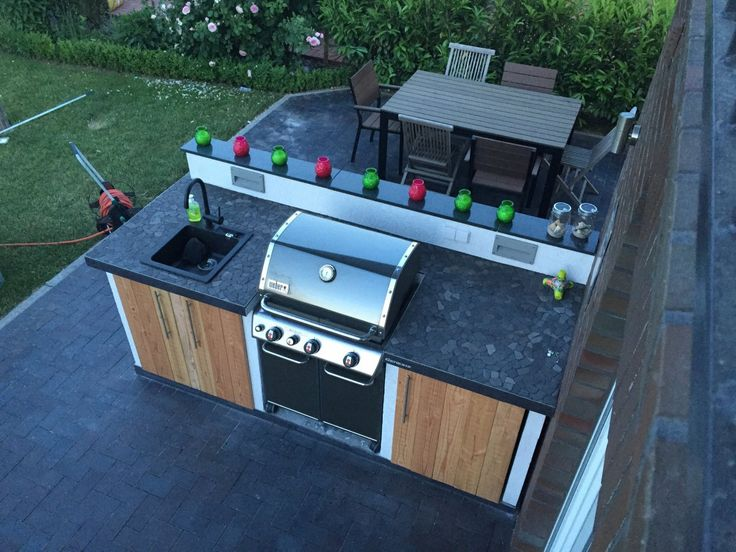 21 best grillk che images on pinterest outdoor cooking outdoor kitchens and backyard kitchen. Black Bedroom Furniture Sets. Home Design Ideas