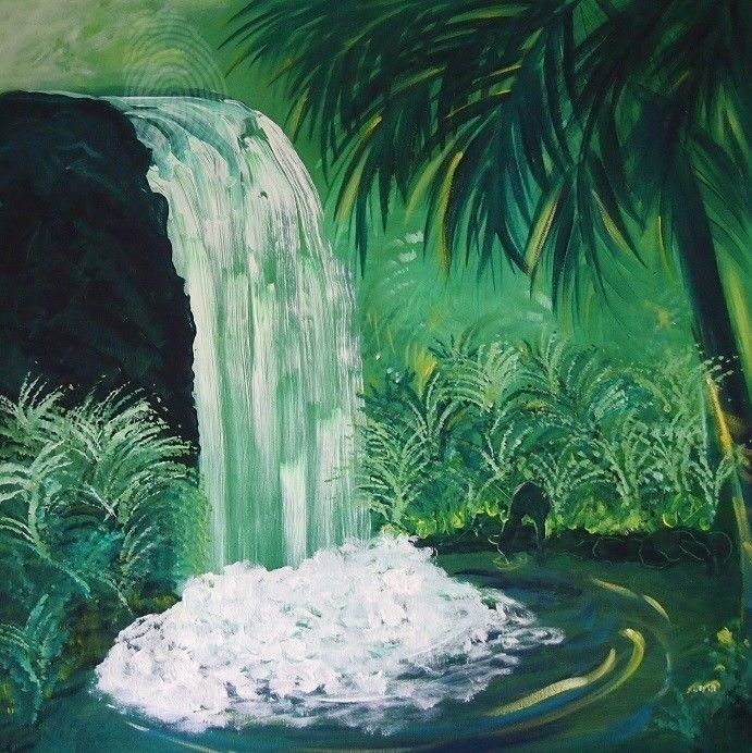 """Misty Green"" by Nicky Korneliussen. Paintings for Sale. Bluethumb - Online Art Gallery"
