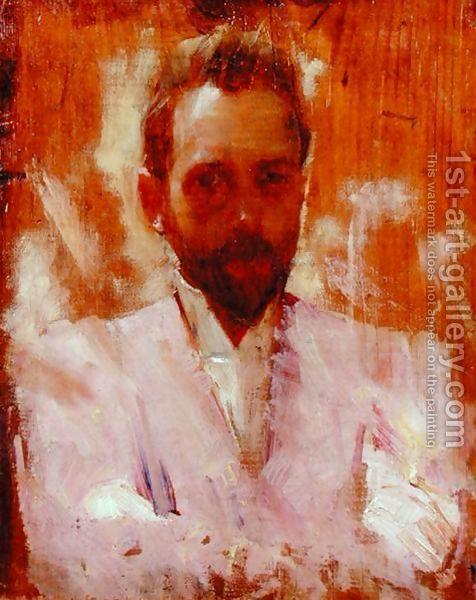 Charles Edward Conder:Portrait of the Painter Sir Ernest Arthur Streeton
