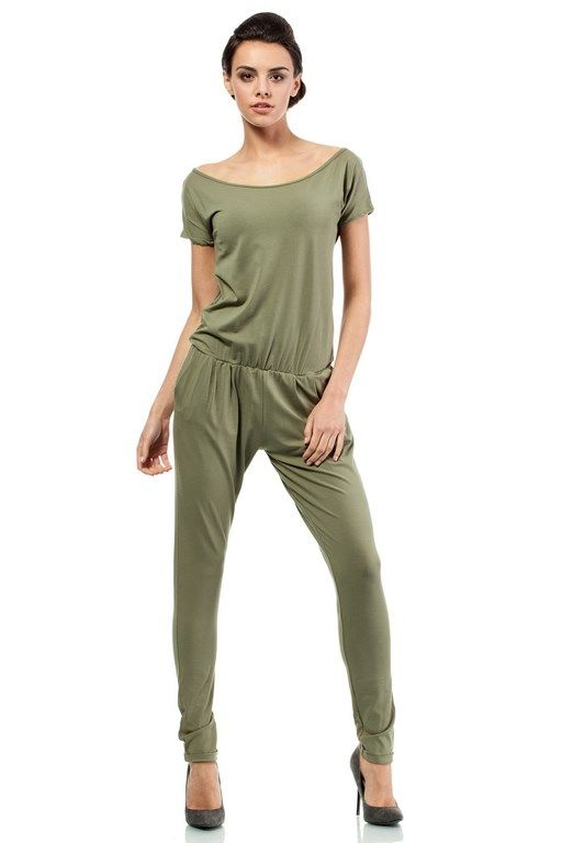 Pantsuit for women in shades of khaki