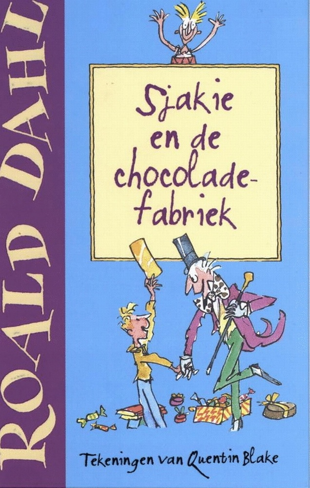 Nostalgic book Roald Dahl, Sjakie and the chocolate factory