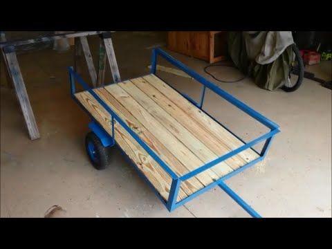 Homemade lawn mower trailer / garden cart