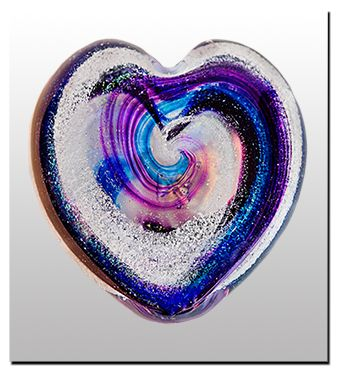 Artful Ashes - memorials beautiful glass hearts and orbs with your loved ones ashes swirled in