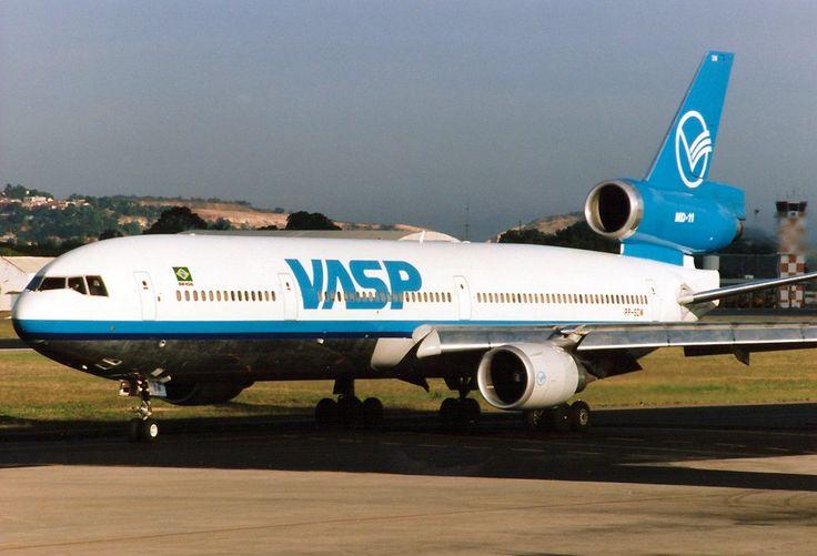 A VASP McDonnell Douglas MD-11 at Recife Airport. (1998) Photo by Torsten Maiwald