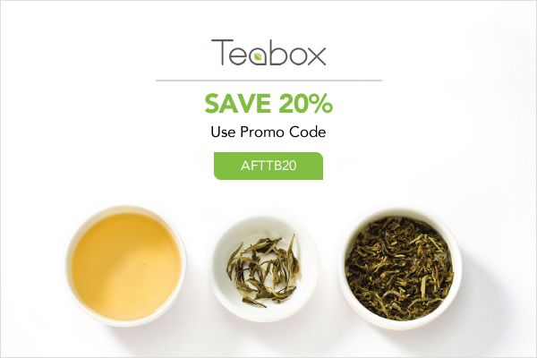Save 20% right now at Teabox.com! Also, check out my blog :)