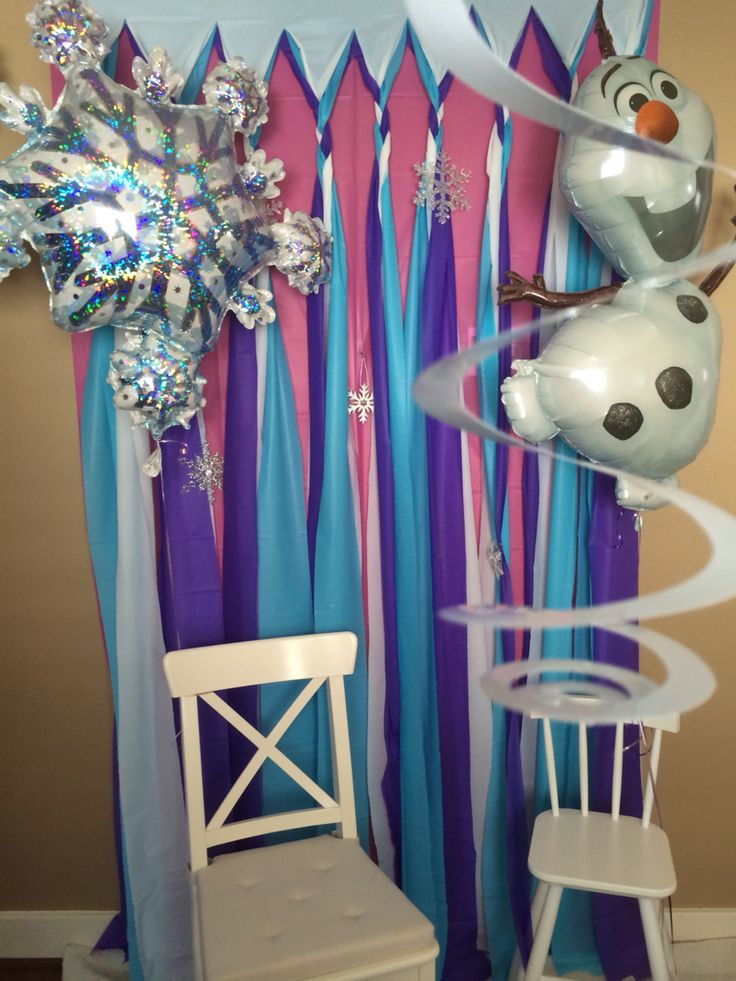 Backdrop for pictures - Frozen themed birthday party