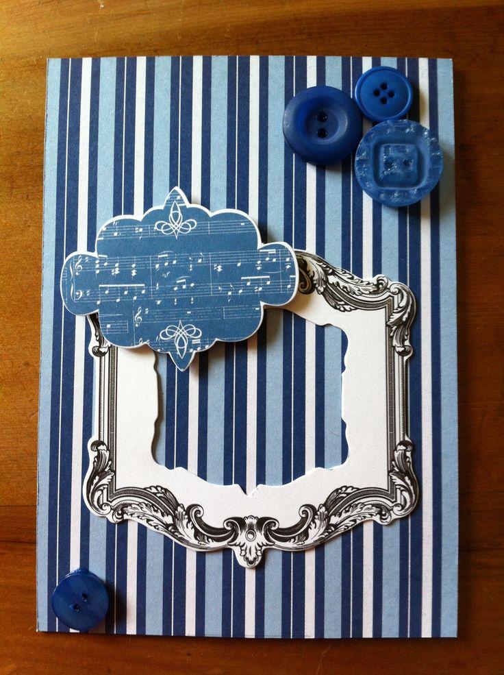 Blue music card