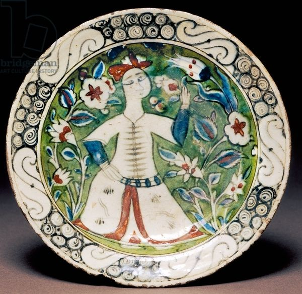 Decorated plate, Iznik pottery, Turkey, Turkish-Anatolian Civilization, 17th century