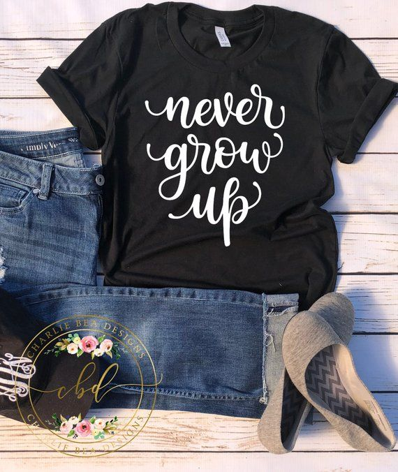 Never Grow Up Shirt Peter Pan Shirt Women S Disney Shirt