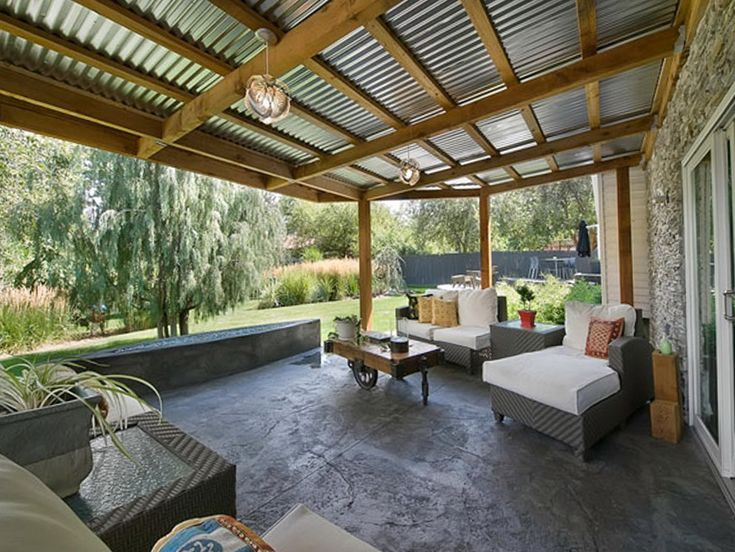 image result for metal roof patio cover - Metal Roof Patio Cover Designs