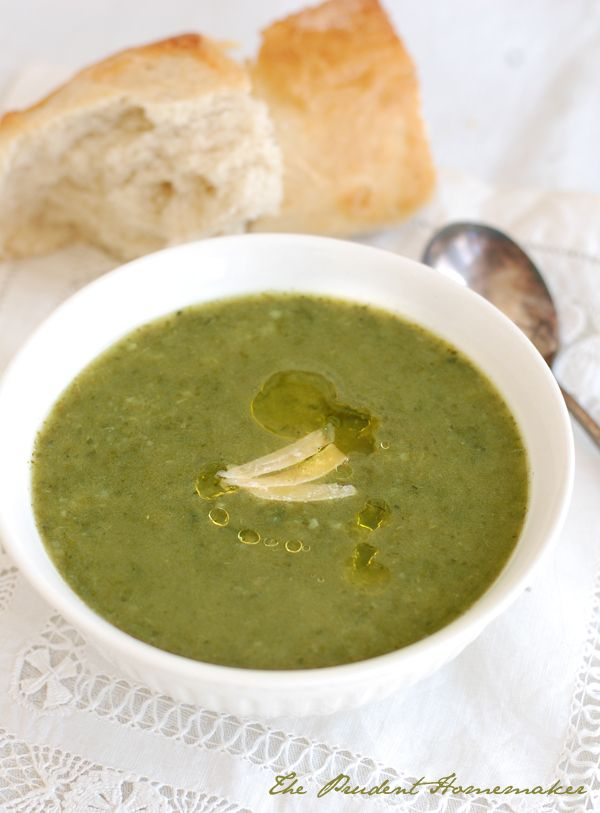 Swiss chard soup The Prudent Homemaker [visit the website for more recipes in the top 'Recipe' tab!]