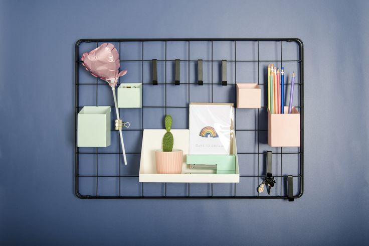 Organize! GALLER metal mesh and metal boxes - Lagerhaus SS17