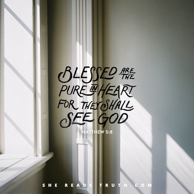 Blessed Are the Pure in Heart - She Reads Truth : She Reads Truth
