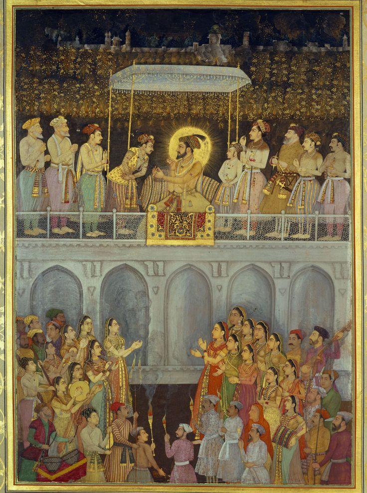 Shah-Jahan honouring Prince Aurangzeb at his wedding (19 May 1637)