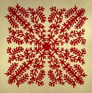 Hawaiian Quilts Bring out Unique designs from the Islands - I have seen many of these quilts first hand and they are stunning
