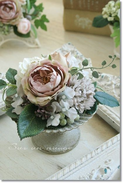 Try this with real dried flowers