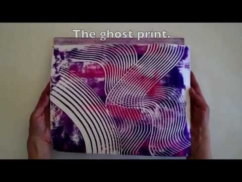 Wipe Out Monoprinting - Gelli Arts™ & Catalyst Tools! - YouTube (4:29)