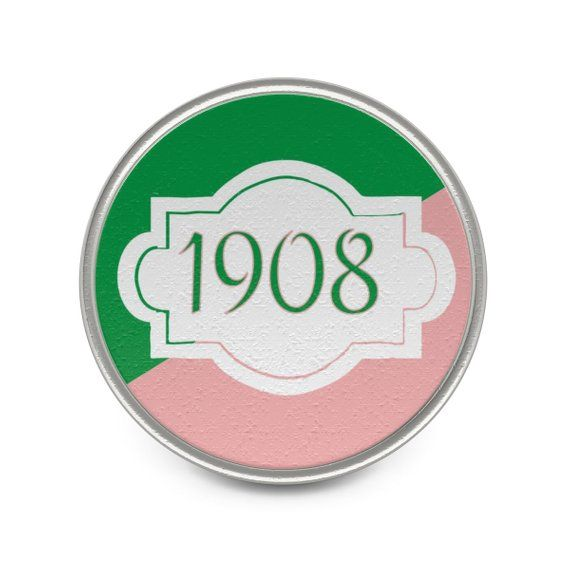 Pink And Green 1908 Metal Lapel Pin   Designs by Ramona C