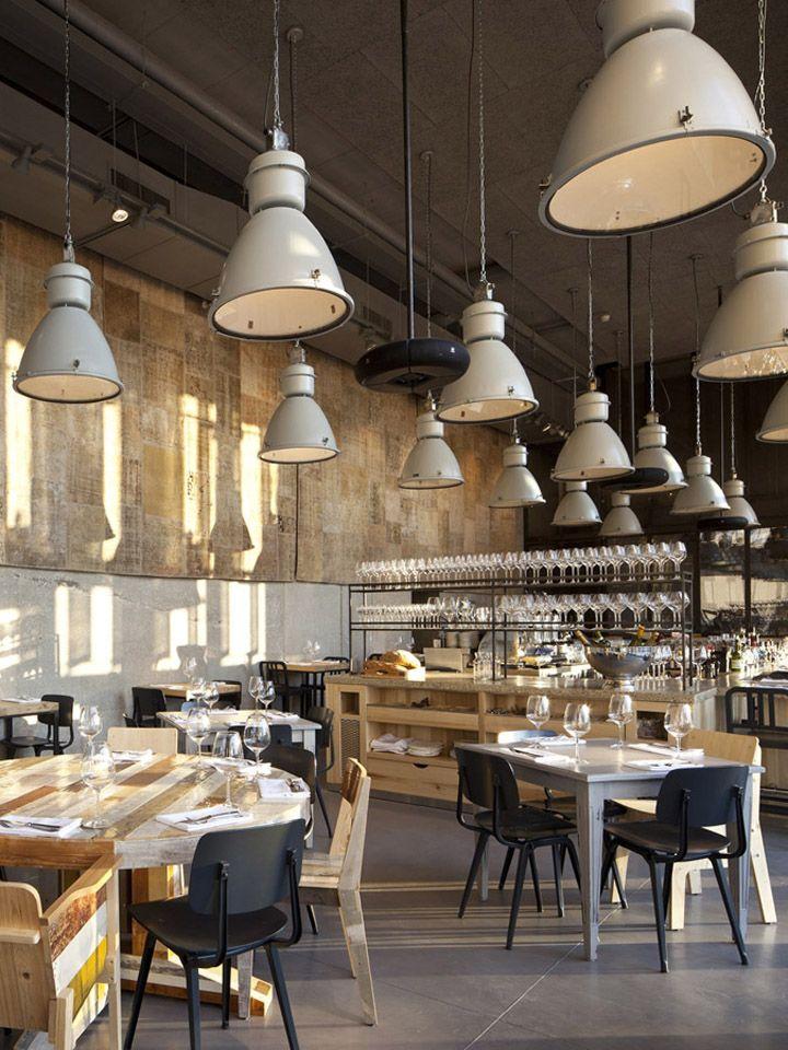 jaffa tel aviv restaurant by baranowitz kronenberg architecture furniture by dutch designer piet hein eek fills the restaurant accompanying a few
