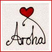 Aroha heart tile