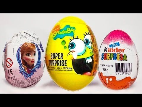 Surprise Eggs Spongebob Frozen Huevo Kinder Sorpresa egg by Unboxingsurpriseegg