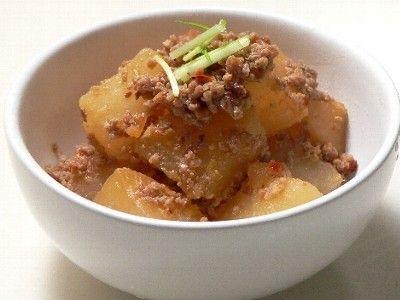 【炊飯器レシピ】大根のピリカラそぼろ煮