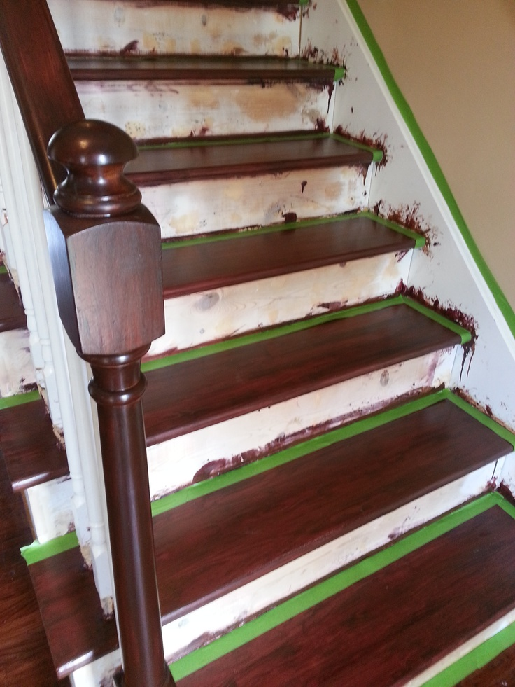 The banisters 2 coats with general finishes semi gloss polyurethane