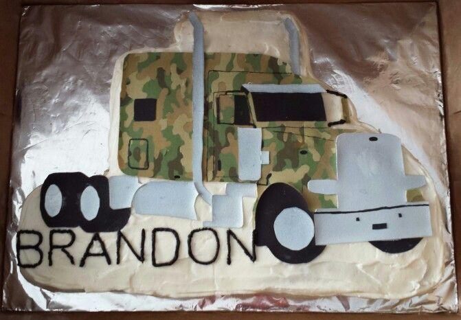 ... Semi Truck Cakes on Pinterest | Semi trucks, Tow truck and Birthday