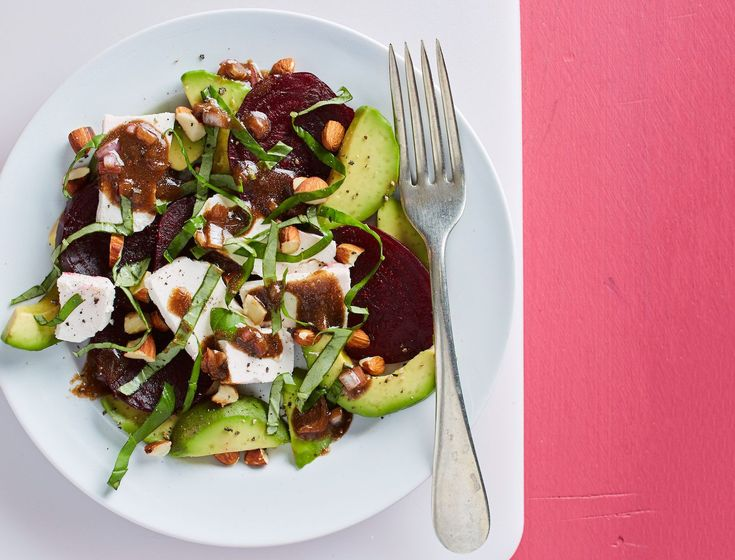 Roasted Beet-Cheese-Basil Caprese with Avocado and Toasted Almonds Recipe – Melissa Scanlon