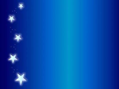 Sidebar angel blue stars PPT Backgrounds