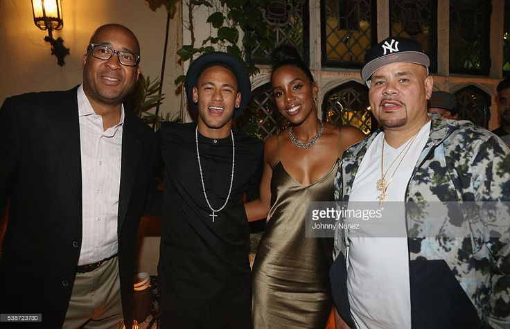 Nike Brand President Trevor Edwards, Neymar Jr., Kelly Rowland and Fat Joe attend An Intimate Evening With Michael Jordan And Neymar Jr on June 1, 2016 in New York City.