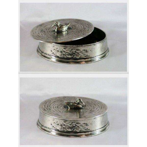 Buy Duck Trinket Box Solid Pewter, Made In Italy, Men's Gift Online Australia