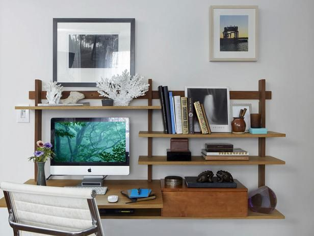 Wall art leaves floor space open. Tiny Apartment Therapy : Rooms : Home & Garden Television