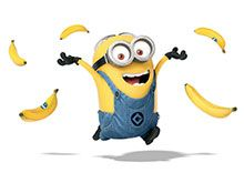 Minion Dave Loves Bananas, I love these guys! I wish a few hung out with me like they do with Gru!