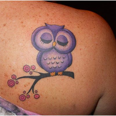 The demure owl tattoo: