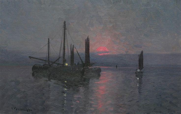 Fiskebåtar till sjöss by Carl Brandt