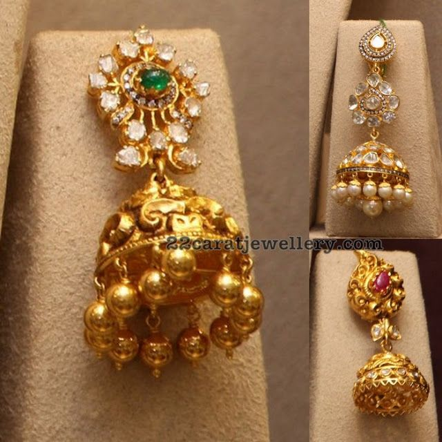 1121 best Traditional Gold Jhumkas Collection images on Pinterest
