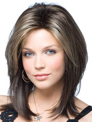 Gorgeous Lace Front Synthetic Wig Medium Straight Light