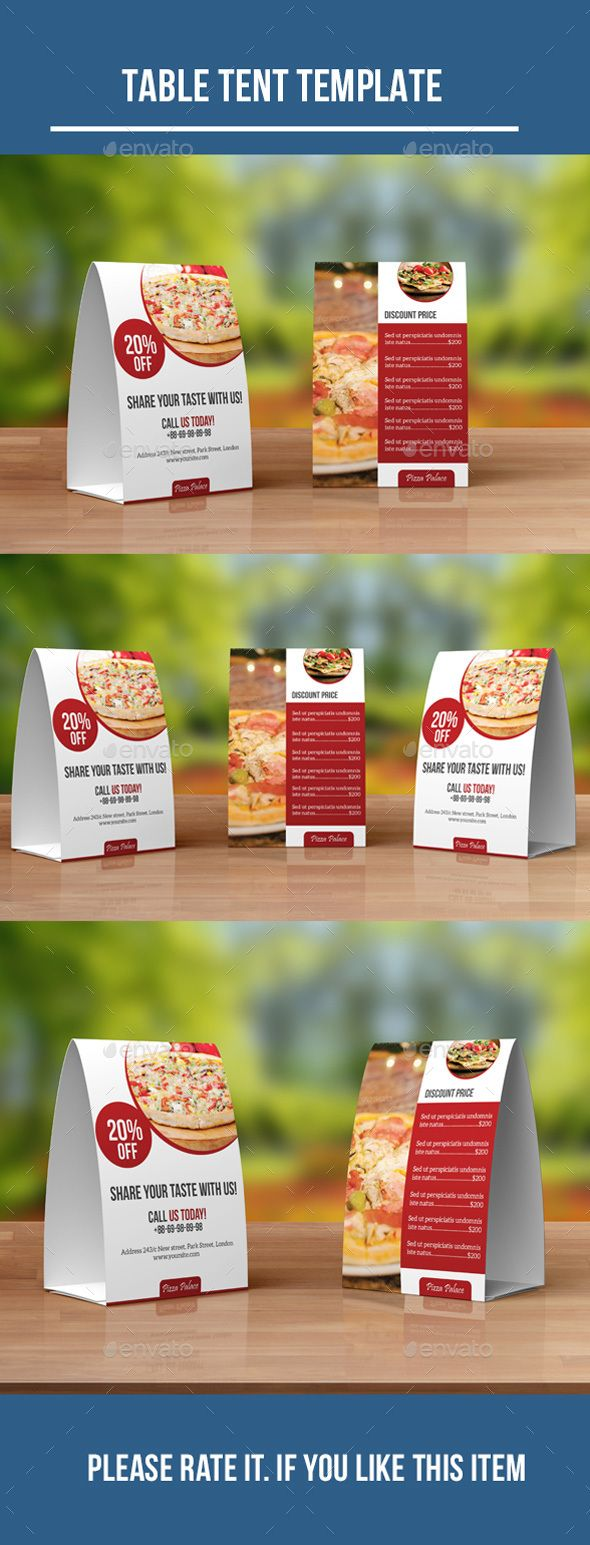 Food Menu Table Tent Template PSD #design Download: http://graphicriver.net/item/food-menu-table-tent/13130454?ref=ksioks
