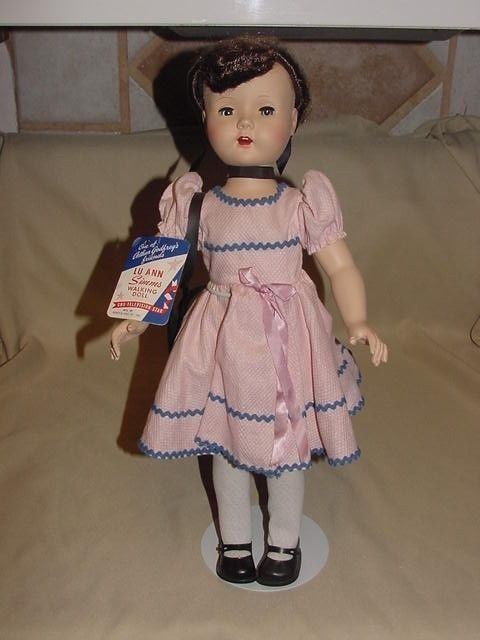 Lu Ann Simms Walking Doll Arthur Godfrey TV Saran Hair Jointed Eyes Close Vanity