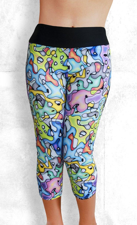 Capri Leggings - Water Color Madness - Funtastic Activewear