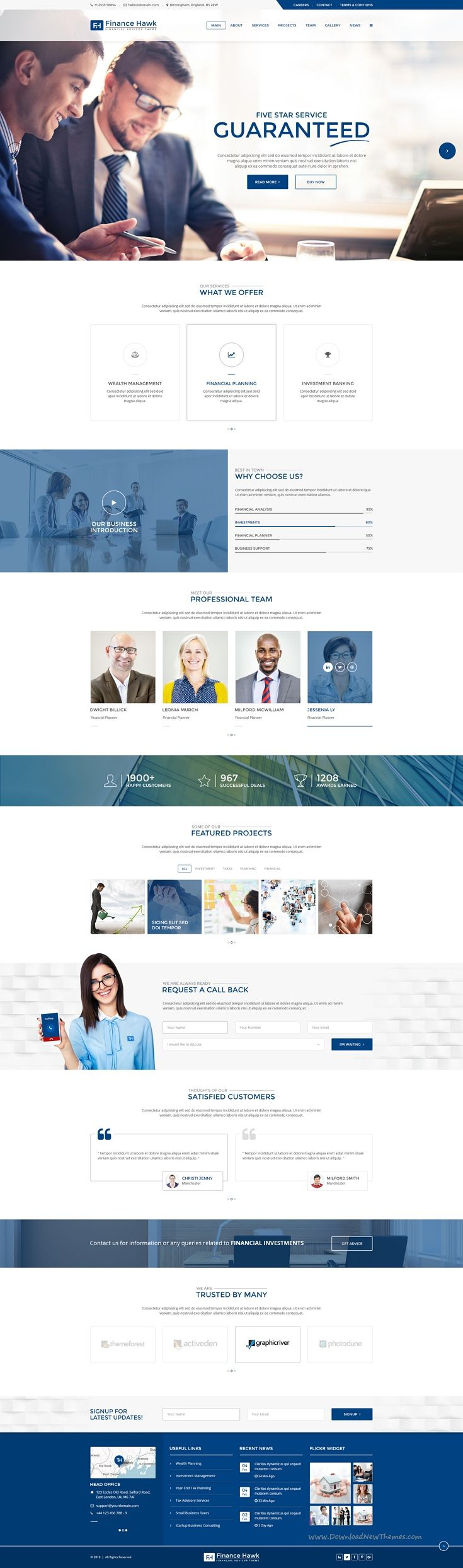 Finance Hawk is a modern and creative #PSD template specifically designed for…
