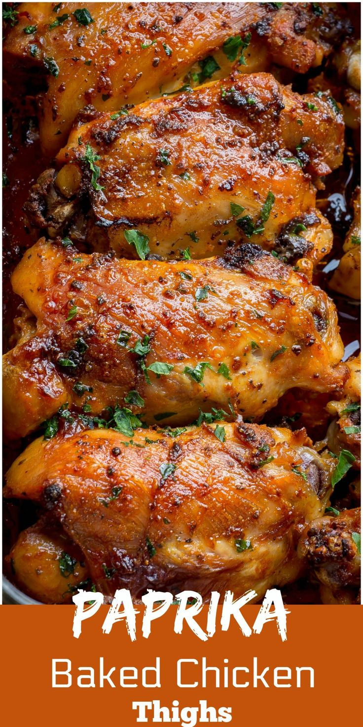 Paprika Baked Chicken Thighs Are Easy Succulent Skinless Bone In Chicken Thighs That Are Oven