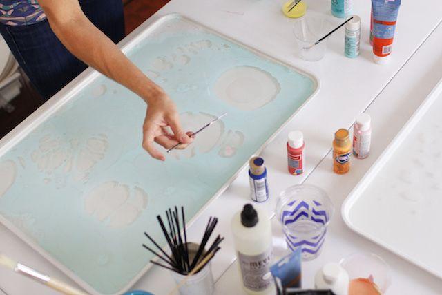 Tutorial: Cómo hacer papel marmoleado 8